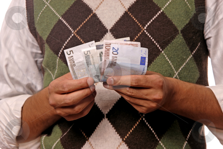 Money stock photo, Young man detail with money in the hands by Rui Vale de Sousa