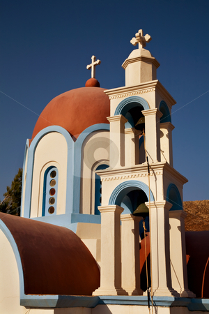 Church stock photo, Roof top of a typical church in the island of crete, greece by Rui Vale de Sousa