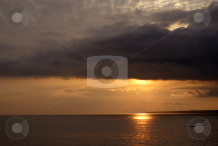 Sunset stock photo, Sunset at the sea in azores, s. Miguel island by Rui Vale de Sousa