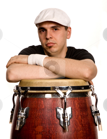 Drummer stock photo, Studio picture of a young drummer man by Rui Vale de Sousa