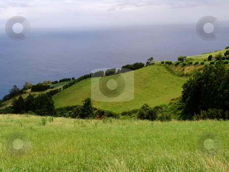 Fields stock photo, Azores fields by Rui Vale de Sousa