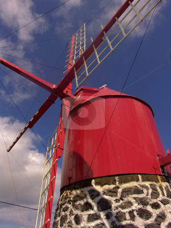 Ancient stock photo, Azores ancient windmill by Rui Vale de Sousa