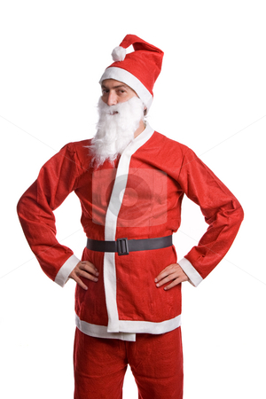 Santa claus stock photo, Thin santa claus isolated on white background by Rui Vale de Sousa