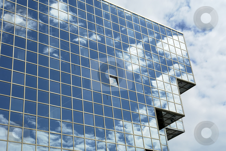 Modern stock photo, Modern office building and the blue sky by Rui Vale de Sousa