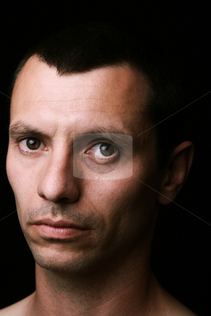 Young stock photo, Young man close up portrait, on black background by Rui Vale de Sousa