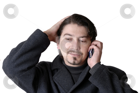 Call stock photo, Young casual man talking on the phone by Rui Vale de Sousa