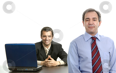 Workers stock photo, Boss with a man working, focus on the right man by Rui Vale de Sousa