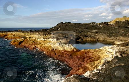 Coast stock photo, Coastal rocks at the south of portugal by Rui Vale de Sousa