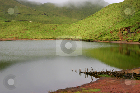 Lake stock photo, Azores lake detail by Rui Vale de Sousa