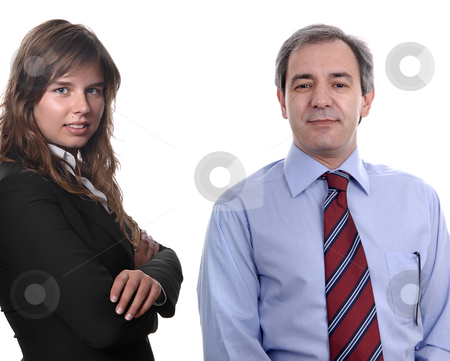 Couple stock photo, Business couple portrait, isolated over a white background by Rui Vale de Sousa