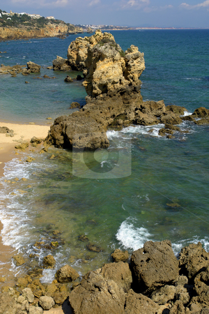 Coastal stock photo, Rocks at the coast in the south of portugal by Rui Vale de Sousa