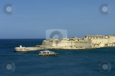 Port stock photo, Valetta harbor view, Capital of Malta island by Rui Vale de Sousa