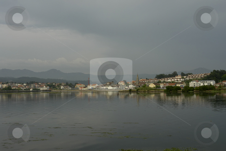 Reflection stock photo, Spanish town reflection on the water by Rui Vale de Sousa