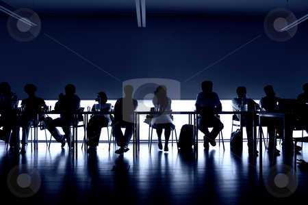 Unity stock photo, Group of people at a meeting, interior picture by Rui Vale de Sousa
