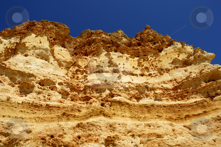 Wall stock photo, Wall at a small beach in algarve, the south of portugal by Rui Vale de Sousa