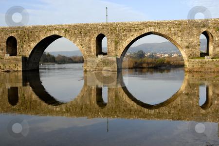 Arch stock photo, Ancient roman bridge detail in the north of portugal by Rui Vale de Sousa