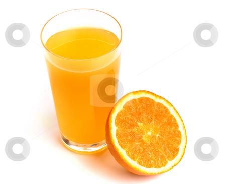 Orange stock photo, Orange Juice glass isolated on white background by Rui Vale de Sousa