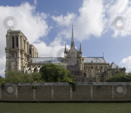 Notre Dame de Paris stock photo, A side view of the majestic Notre Dame, Paris, France by Corepics VOF