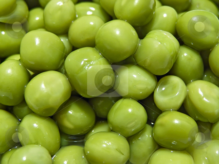 Green pea stock photo, Close up of the scatter rich green pea by Sergej Razvodovskij