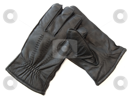Man gloves stock photo, The pair of the man black gloves by Sergej Razvodovskij