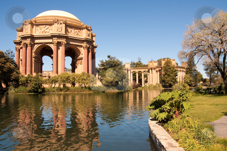 Palace of Fine Arts stock photo, The Palace of Fine Arts has been a favorite wedding location for couples throughout the San Francisco Bay Area. It is also a good place to spend your evening with your love one. by Hieng Ling Tie