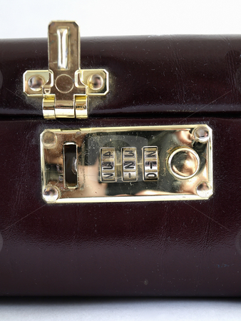 Combination Lock Open stock photo, Isolated view of a combination lock in an open position by Robert Gebbie