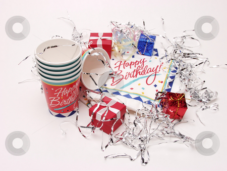 Birthday  stock photo, Party time for a birthday, on an isolated white background by Robert Gebbie