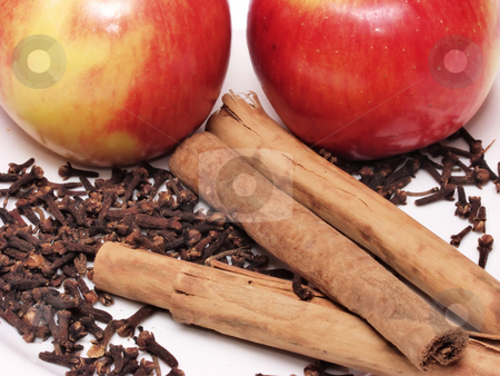 Apples  stock photo, Apples Cinnamon sticks and cloves set the theme for this photo. A good winter combination, good times happy warm memories. by Robert Gebbie