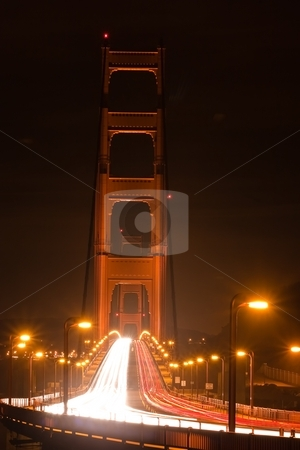 Golden Gate stock photo, Golden Gate Bridge is a suspension bridge spanning the Golden Gate, the opening of the San Francisco Bay onto the Pacific Ocean by Mariusz Jurgielewicz