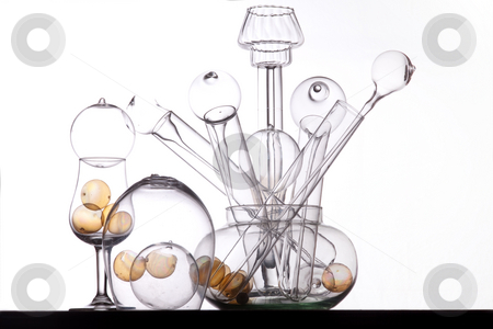 Glass art stock photo, Still life of glass in studio by Dirk Ercken