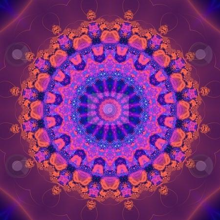 Abstract Mandala Pattern stock photo, Abstract Fractal mandala-like pattern by Germán Ariel Berra