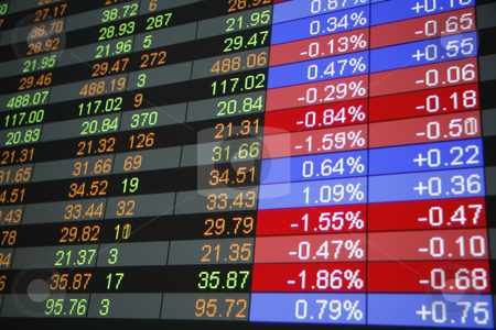 Quotes stock photo, Real time quotes at the stock exchange by mdphot