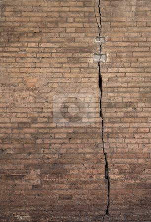 Decay stock photo, Decay, old wall with crack, City of Siena, Tuscany, Italy, Europe by mdphot