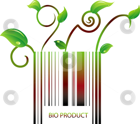 Barcode of bio product  stock vector clipart, This is a vector illustration barcode of bio product by Veronika Pilatova