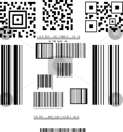Barcode stock vector clipart, This is a set of barcode. by Veronika Pilatova