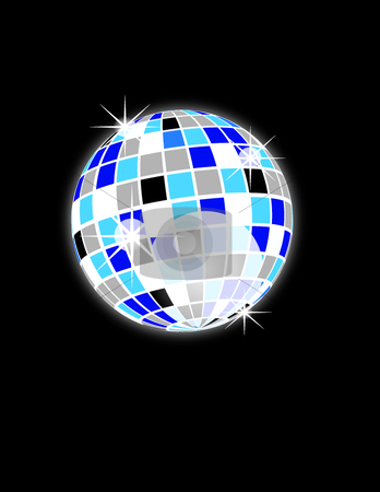 Disco ball stock vector clipart, This is a discoball on black background. by Veronika Pilatova