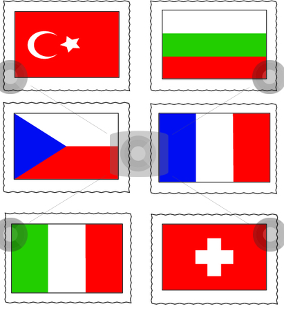 Flag of states stock vector clipart, This is a set of six flags. by Veronika Pilatova