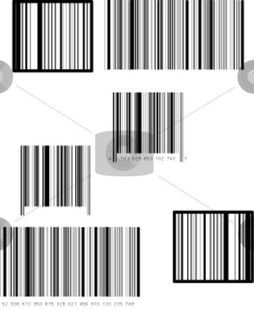 Set of barcode stock vector clipart, This is a set of six barcode. by Veronika Pilatova