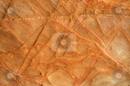 Stone stock photo, Red iron mineral wall by Marc Torrell