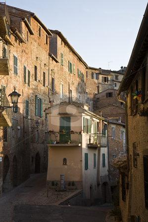 Somewhere in the Tuscany stock photo, Old town and narrow alleys, Tuscany, Italy, Southern Europe by mdphot