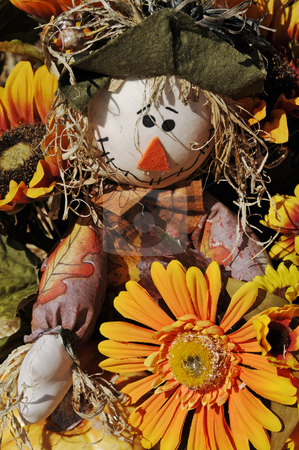 Scarecrow stock photo, A scarecrow decoration for the fall season. by Darryl Vest