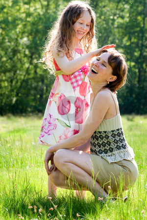 Mother and daugther relationship stock photo, Mother and daughter have a happy time together by Frenk and Danielle Kaufmann