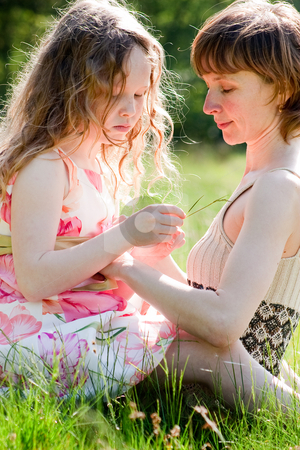 Mother and daugther prime time stock photo, Mother and daughter have a happy time together by Frenk and Danielle Kaufmann