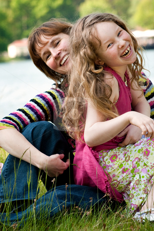Lets have fun stock photo, Mother and daughter have a happy time together by Frenk and Danielle Kaufmann