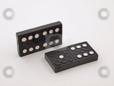 Two dominos stock photo, Dominos used to play with for fun or money. by Ian Langley