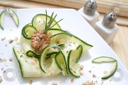 Fresh salad stock photo, Fresh salad of zucchini by Yvonne Bogdanski