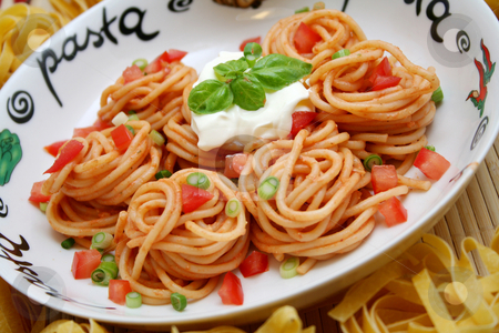 Italian pasta stock photo, Italian pasta by Yvonne Bogdanski