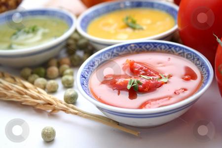 Fresh soups stock photo, Fresh soups by Yvonne Bogdanski