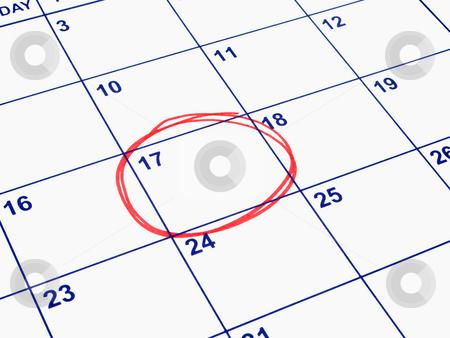 A date circled on a calendar. stock photo, A date circled on a calendar. by Stephen Rees