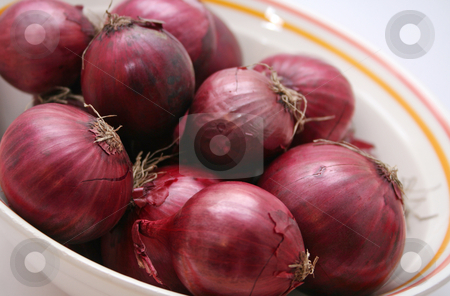 Red onions stock photo, Red onions by Yvonne Bogdanski